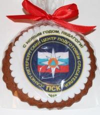 Имбирное печенье с печатью по мастике