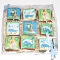 Набор печенья 9шт с логотипом 15*15 см