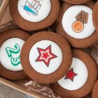 Набор печенья 12шт с логотипом  16*16см