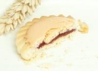 Сдобное  печенье с логотипом с начинкой