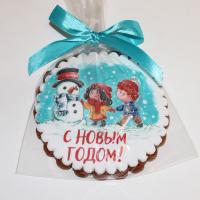 печенье с новым годом снеговик и дети