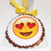 Печенье Смайлик Сердечки 10 см