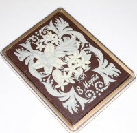 Покр. пряник в шоколаде Цветы 8 Марта 700гр