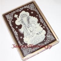 Пряник в шоколаде Дед Мороз и Снегурочка