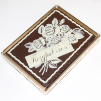 Покровский пряник в шоколаде Розы