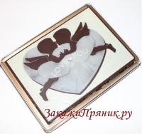 Покровский пряник в шоколаде I love you