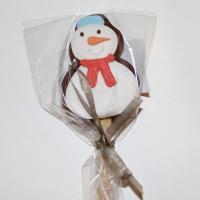 Мини печенье  на палочке 6 см Снеговик