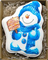 пряник Снеговик с новым годом