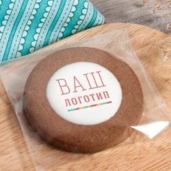 Имбирное печенье с логотипом Круглое 5 см