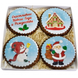Набор имбирного печенья С новым годом
