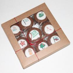 Набор печенья 12 шт С 23 февраля  16*16см