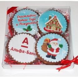 Набор печенья с логотипом  20*20 см