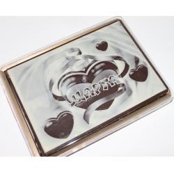 Покр. пряник в шоколаде  8 марта Сердечки