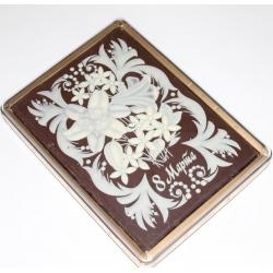 Покров. в шоколаде Цветы 8 Марта 700гр