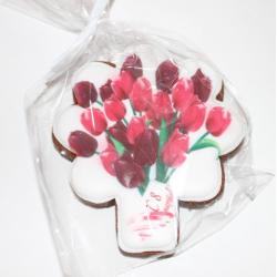 пряник букет тюльпанов