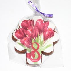 Имбирный пряник Букет цветов 10 см