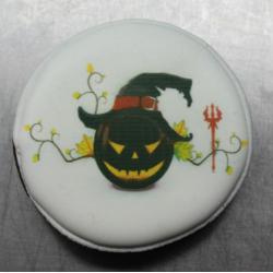 Пряник Медальон с тыквой 8 см