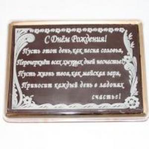 Покровский в шоколаде С Днем Рождения Стихи