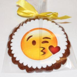 Печенье Смайлик Поцелуйчик 10 см